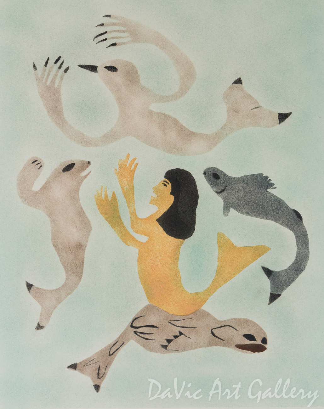 'Sedna with Sea Creatures' by Annie Kilabuk - Inuit - Pangnirtung 2001