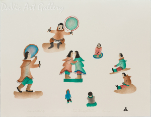 'Images of Traditional Life' by Elisapee Ishulutaq, OC - Inuit - Pangnirtung 2001