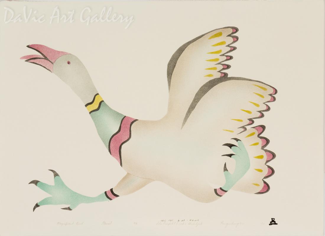 'Magnificent Bird' by Ida Karpik - Inuit - Pangnirtung 2001
