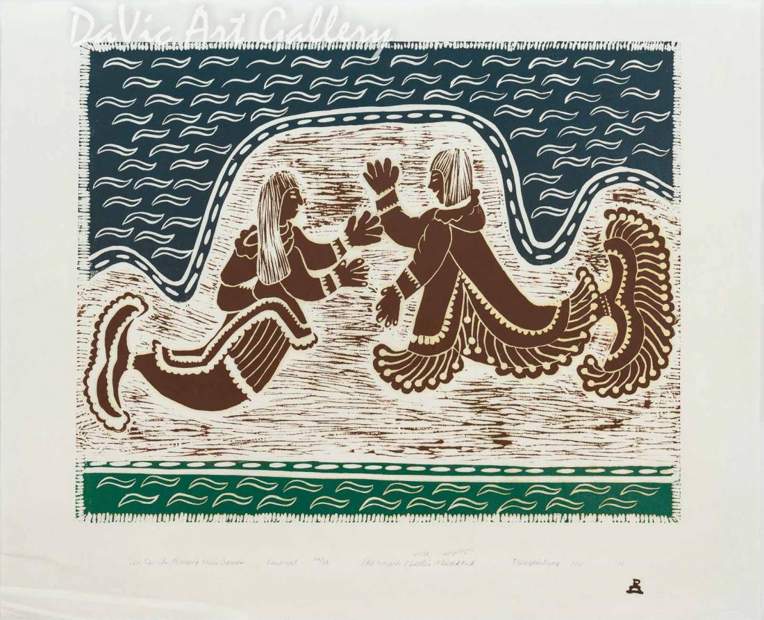 'Sea Spirits Playing Their Games' by Ida Karpik - Inuit - Pangnirtung 2001