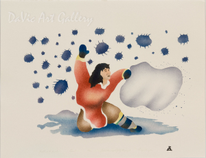 'Battling the Insects' by Joelee Maniapik - Inuit - Pangnirtung 2001