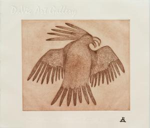 'Etched Bird' by Lipa Pitsiulak - Inuit - Pangnirtung 2001