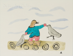 'Bird Human with Friends' by Annie Kilabuk - Inuit - Pangnirtung 2002