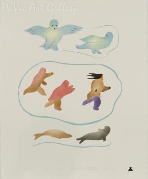 'Mating Season' by Joelee Maniapik - Inuit - Pangnirtung 2002