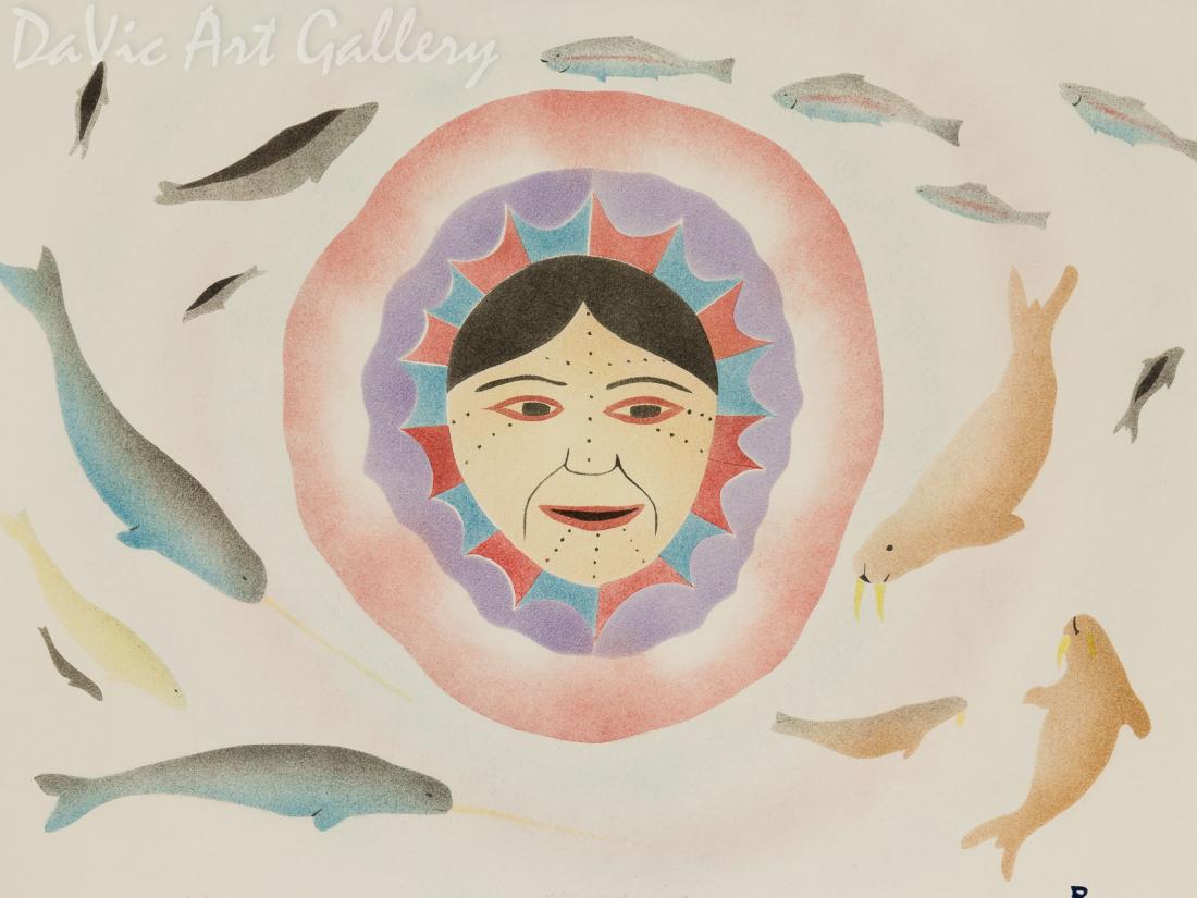 'The Plentiful Sea' by Joelee Maniapik - Inuit - Pangnirtung 2002