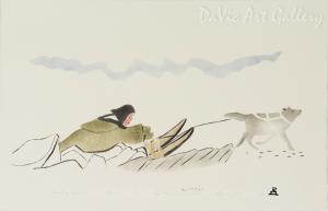 'Travelling Across Ice' by Lipa Pitsiulak - Inuit - Pangnirtung 2002