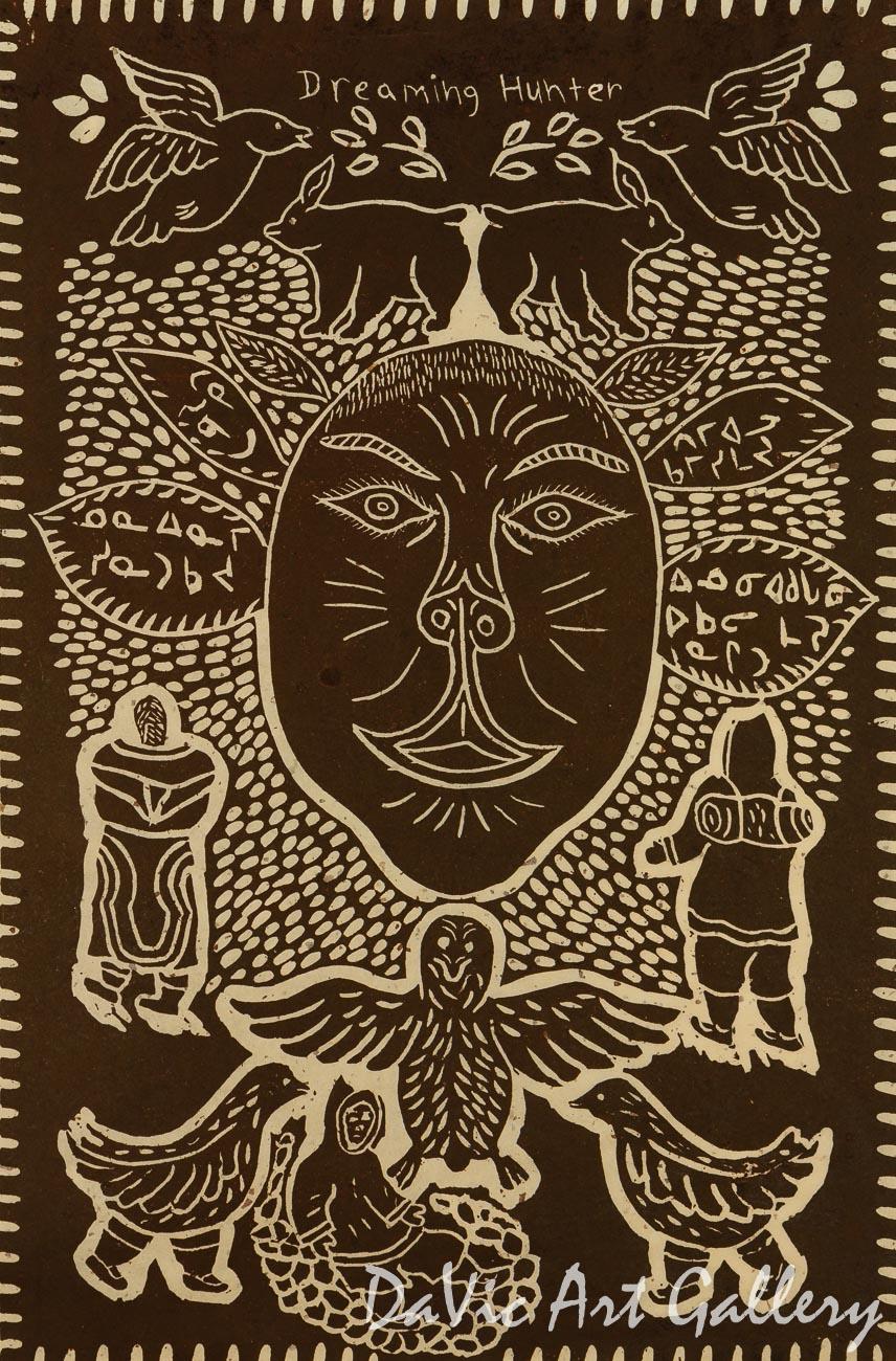 'Dreaming Hunter' by Lipa Pitsiulak - Inuit - Pangnirtung 2003