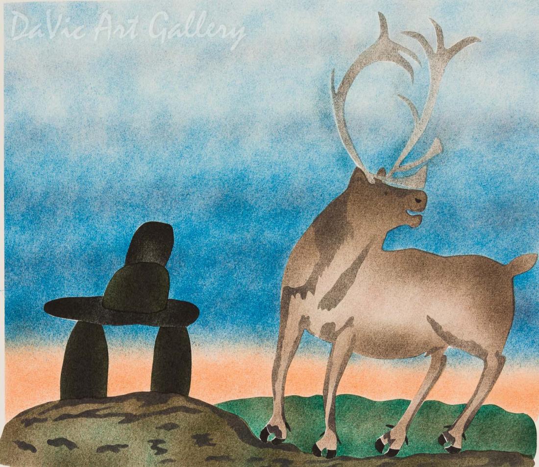 'Paaniq Follows Inukshuk' by Lipa Pitsiulak - Inuit - Pangnirtung 2003