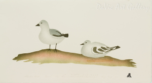 'Attentive Birds' by Thomasie Alikatuktuk 2003 - Inuit - Pangnirtung