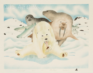 'Food for Thought' by Andrew Qappik, RCA - Inuit Art - Pangnirtung 2004