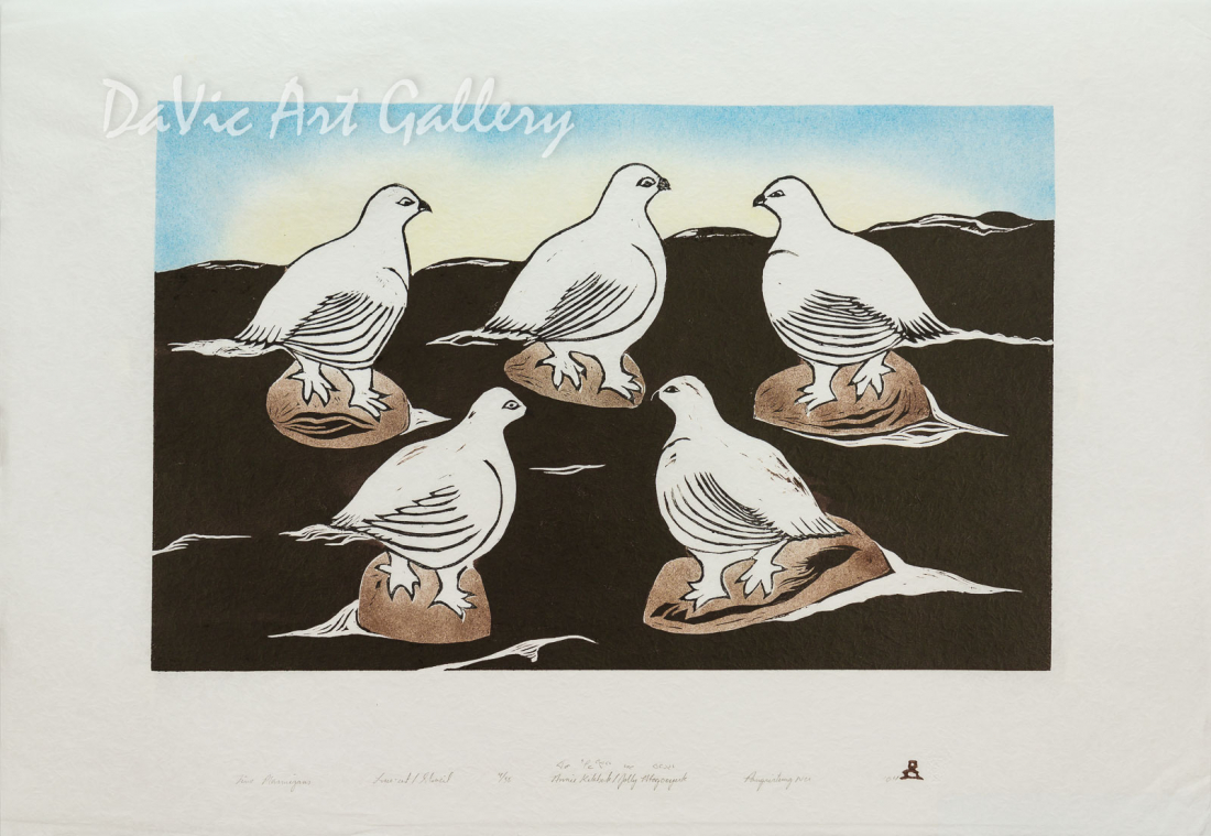 'Five Ptarmigans' by Annie Kilabuk - Inuit - Pangnirtung 2004