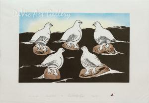'Five Ptarmigans' by Annie Kilabuk - Inuit - Pangnirtung 2004