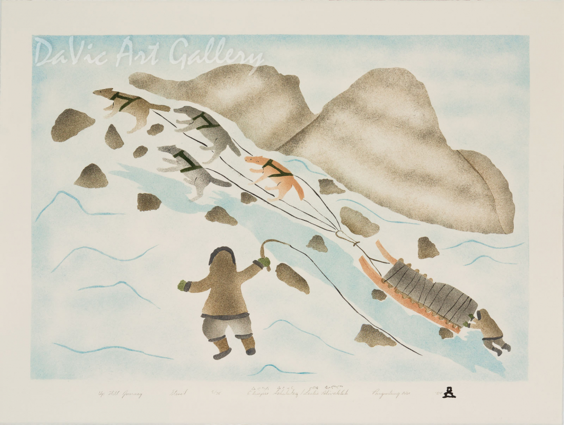 'Uphill Journey' by Elisapee Ishulutaq, OC - Inuit - Pangnirtung 2004