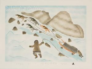 'Uphill Journey' by Elisapee Ishulutaq, OC - Inuit - Pangnirtung 2004