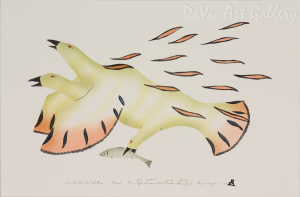 'Three-Headed Bird of Prey' by Gyta Eeseemaillie - Inuit - Pangnirtung 2004