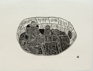'In the Igloo' by Towkie Qarpik 2004 - Inuit - Pangnirtung