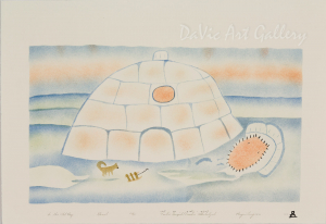 'In the Old Days' by Towkie Qarpik 2004 - Inuit - Pangnirtung