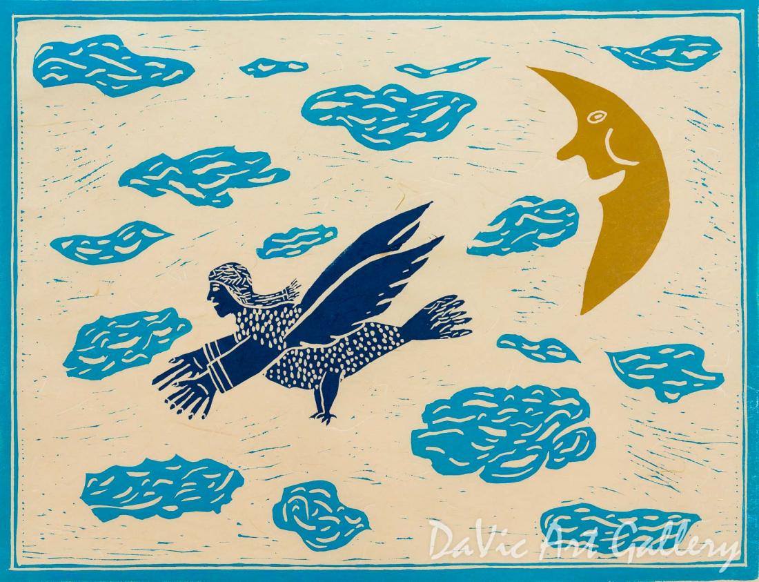 'Astonishing Dream' by Alan Alikatuktuk - Inuit Art - Pangnirtung 2005