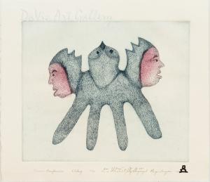 'Shaman's Transformation' by Annie Pitsiulak - Inuit - Pangnirtung 2005