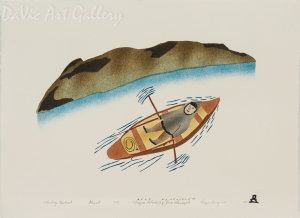 'Island by Rowboat' by Elisapee Ishulutaq, OC - Inuit - Pangnirtung 2005