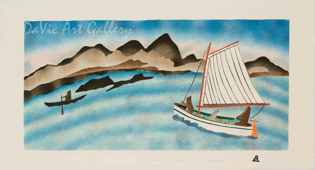 'Steering the Way' by Elisapee Ishulutaq, OC - Inuit - Pangnirtung 2007