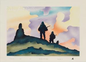 'Returning Home' by Joelee Maniapik - Inuit - Pangnirtung 2007