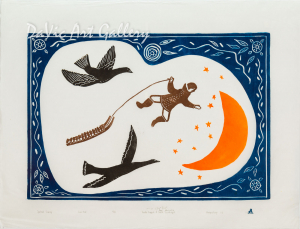'Spiritual Journey' by Towkie Qarpik 2007 - Inuit - Pangnirtung
