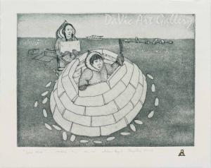 'Iglooliutuu (Igloo Maker)' by Andrew Qappik, RCA - Inuit Art - Pangnirtung 2008