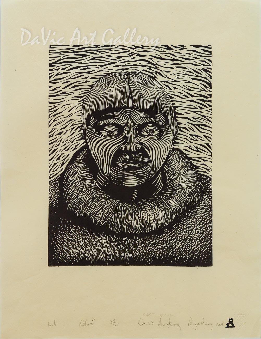 'Inuk' by Davidee Akpalialuk - Inuit - Pangnirtung 2008