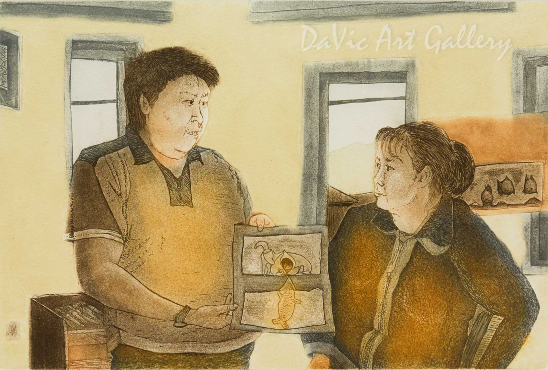 'Andrew and Annie' by Andrew Qappik, RCA - Inuit Art - Pangnirtung 2010