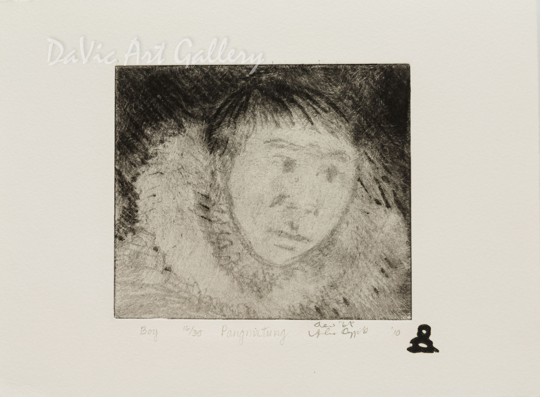 'Boy' by Andrew Qappik, RCA - Inuit Art - Pangnirtung 2010