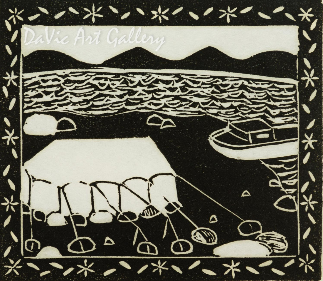 'Summer Camp' by Eena Angmarlik - Inuit Art | Native Canadian Arts