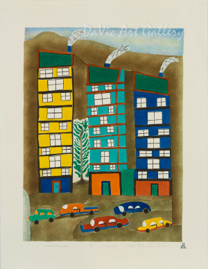 'Downtown Vancouver' by Elisapee Ishulutaq, OC - Inuit - Pangnirtung 2010