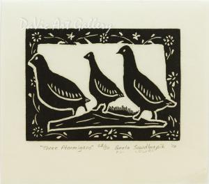 'Three Ptarmigan' by Geela Sowdluapik - Inuit - Pangnirtung 2010