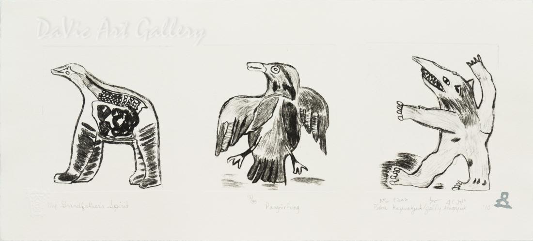'My Grandfather's Spirits' by Piona Keyuakjuk 2010- Inuit - Pangnirtung 2010