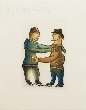 'Self Defense' by Piona Keyuakjuk 2010- Inuit - Pangnirtung 2010