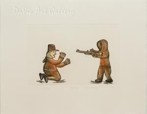 'Witness' by Piona Keyuakjuk 2010- Inuit - Pangnirtung 2010