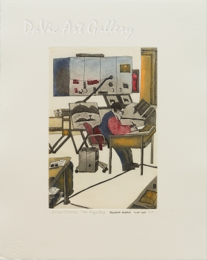 'Jamasie Drawing' by Salamonie Kanayuk 2010 - Inuit - Pangnirtung