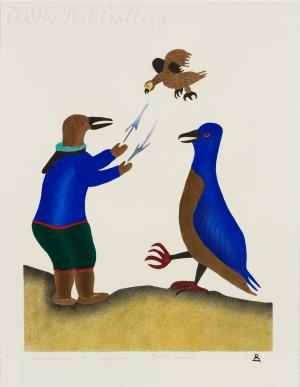 'Instructing Shaman Helper' by Piona Keyuakjuk 2011- Inuit - Pangnirtung