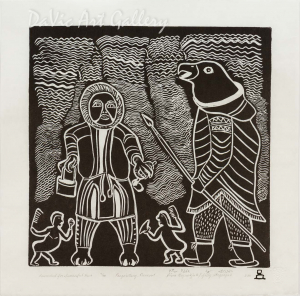 'Rewarded for The Successful Hunt' by Piona Keyuakjuk 2011- Inuit - Pangnirtung