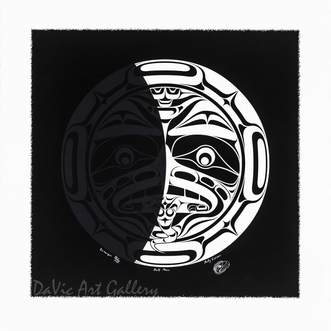 Half Moon by Andy Everson 2004 - Northwest Coast - Kwakwaka'wakw