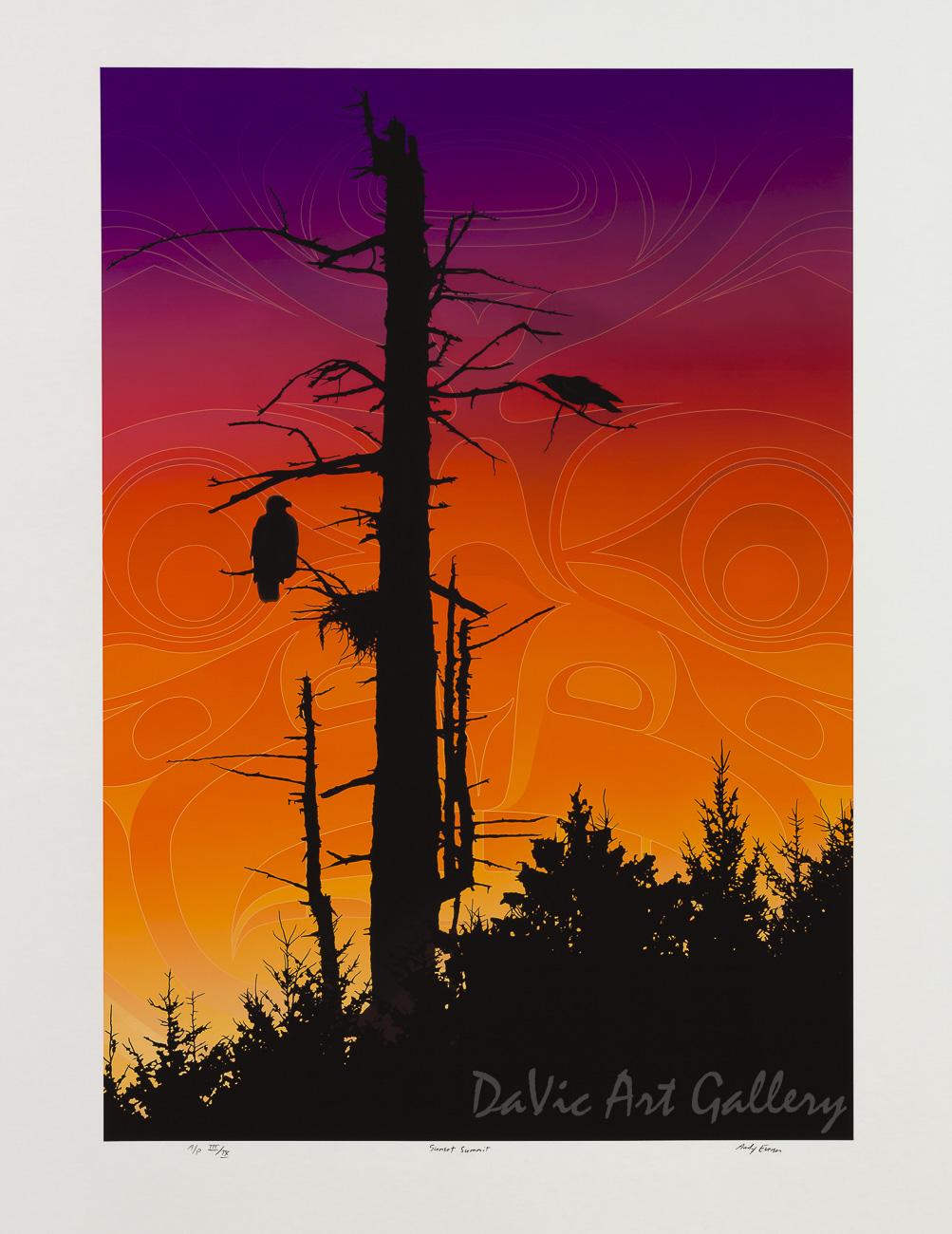Sunset Summit by Andy Everson 2009 - Northwest Coast - Kwakwaka'wakw