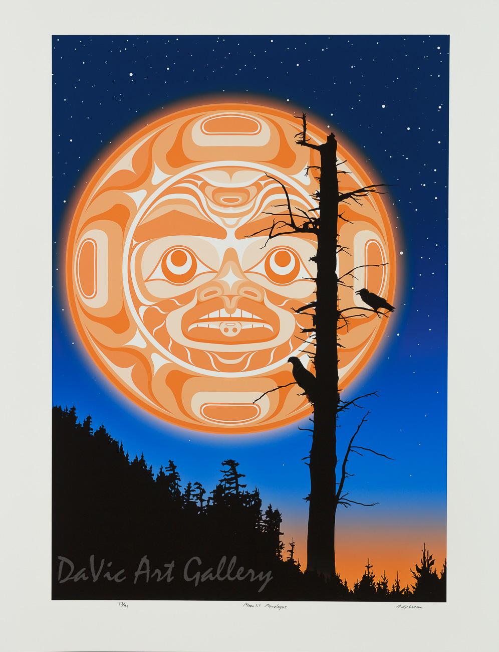 Moonlit Monologue by Andy Everson 2010 - Northwest Coast - Kwakwaka'wakw
