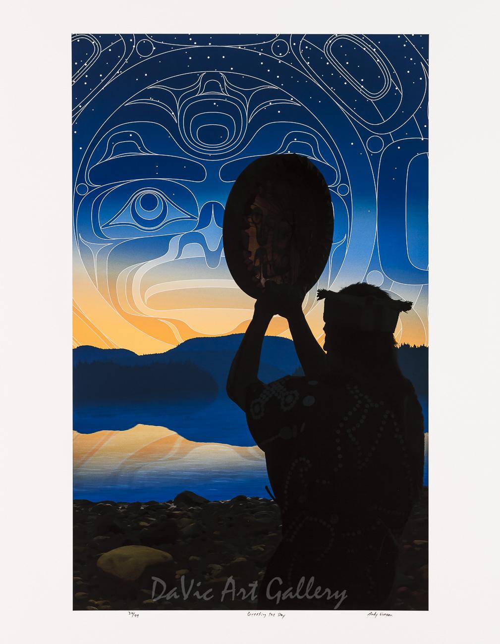 Greeting the Day by Andy Everson 2011 - Northwest Coast - Kwakwaka'wakw