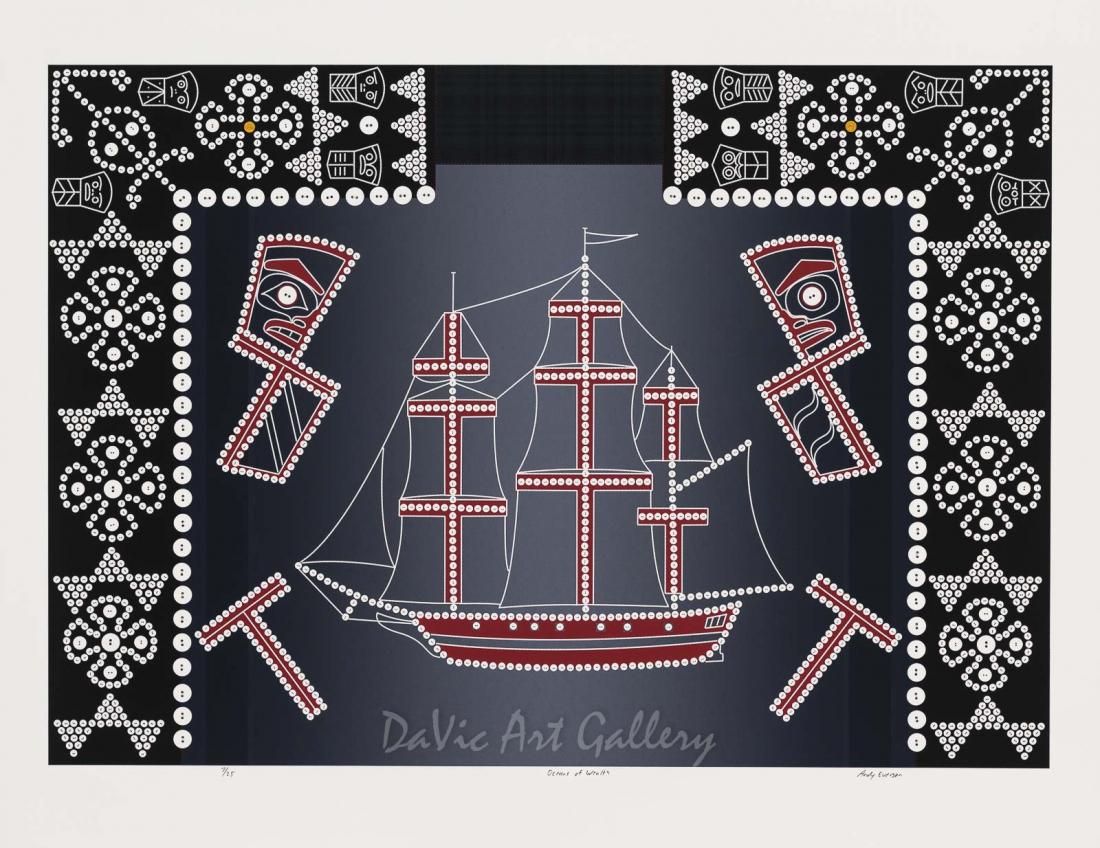 Oceans of Wealth by Andy Everson 2011 - Northwest Coast - Kwakwaka'wakw