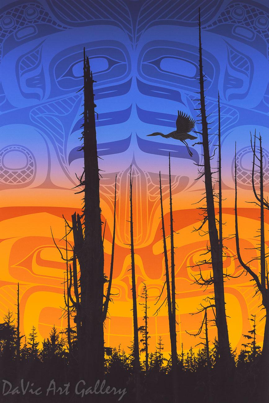 Nimpkish Sunset by Andy Everson 2010 - Northwest Coast - Kwakwaka'wakw