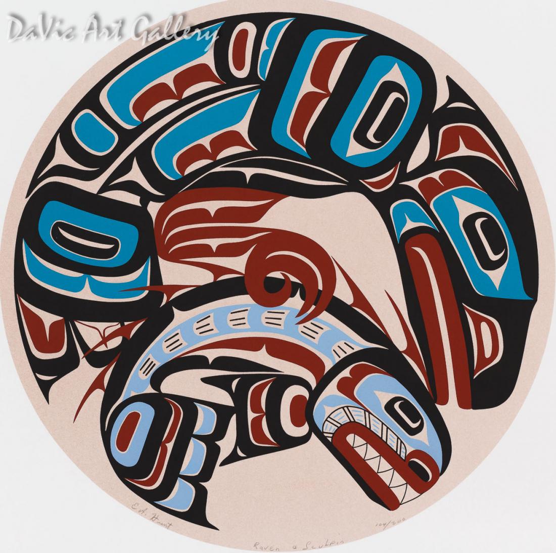 Raven & Sculpin by Eugene Hunt 1997 - Northwest Coast - Kwakwaka'wakw