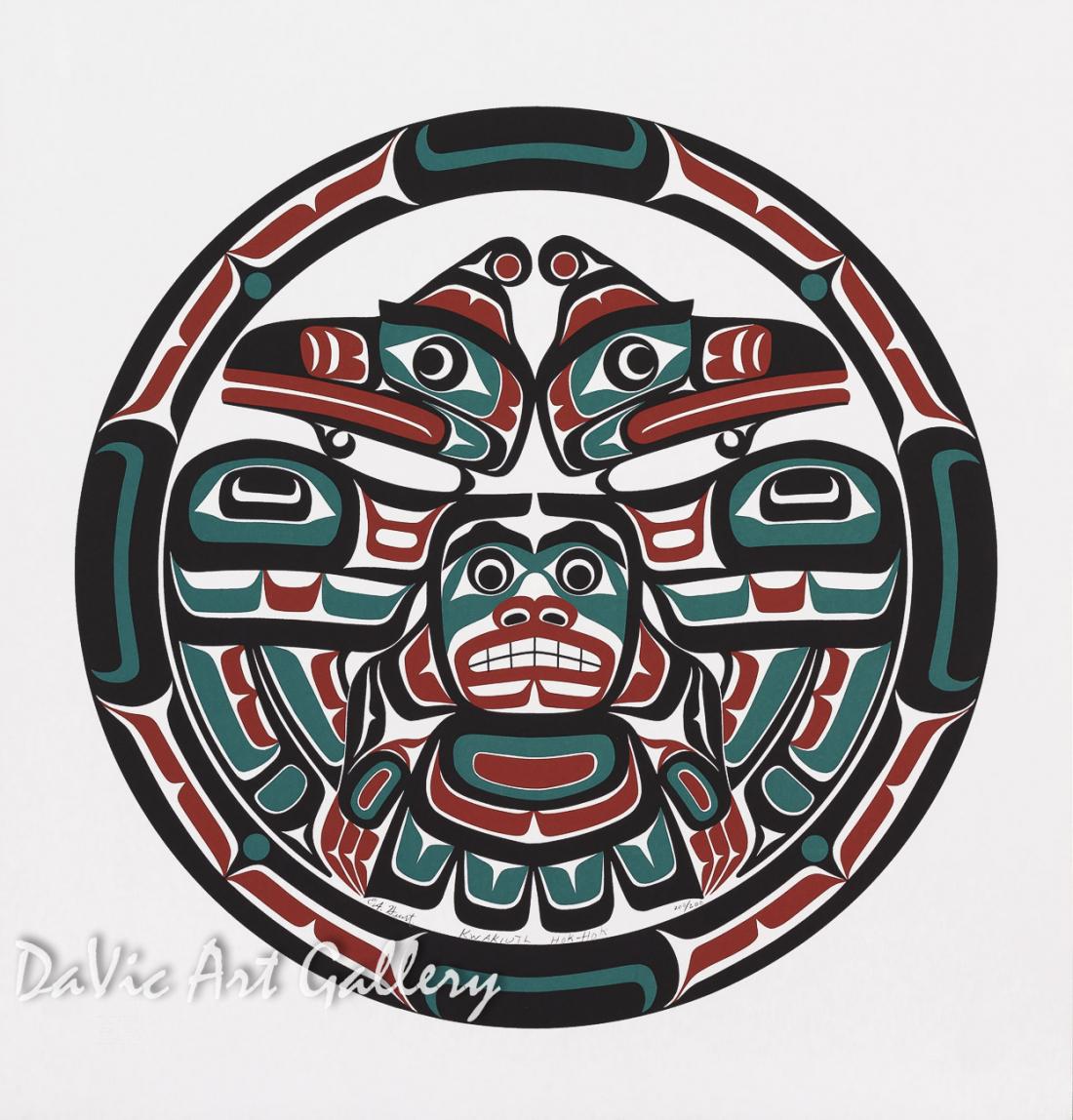 Kwakiutl Hok-Hok by Eugene Hunt 1998 - Northwest Coast - Kwakwaka'wakw
