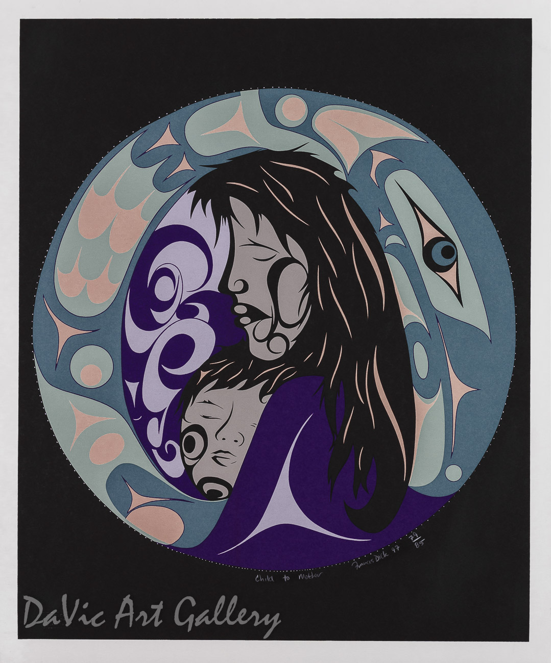 Child to Mother by Francis Dick 1997 - Northwest Coast - Kwakwaka'wakw