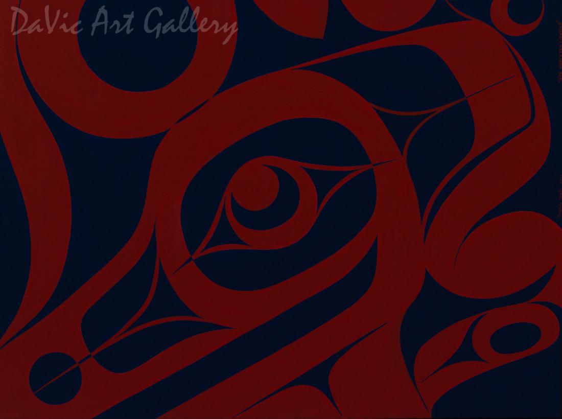 She Wears Red Lipstick by Francis Dick 2011 - Northwest Coast - Kwakwaka'wakw